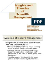 Thoughts and Theories of Scientific Management