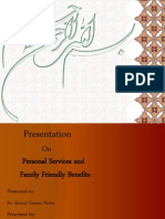 Presentation on Personal Services n Family-Friendly Benefits