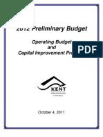 2012 Preliminary Budget