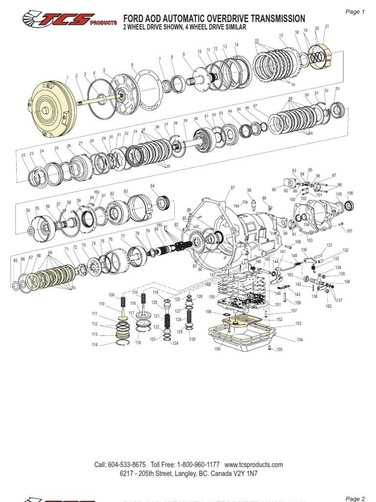 Aod Transmission Diagram Archive Of Automotive Wiring Ford Schematic Rh Pt Scribd Com Valve Body