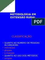 METODOLOGIA EM EXTENSÃO RURAL