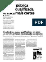 Função Publica menos qualificada arrisca mais cortes que a mais qualificada -Tabela salarial FP