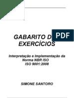 PARA ALUNOS - GABARITO  EXERCÍCIOS ISO 9001