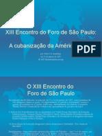 XIII Encontro Do Foro de São Paulo