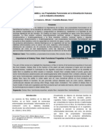 Import an CIA de La Fibra Dietetic A, Prop Funcionales en La Alimentacion Humana