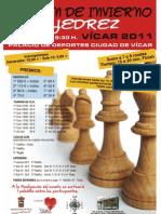 IV Open de Invierno de Ajedrez Vicar 2011(Cartel,Premios y Bases)