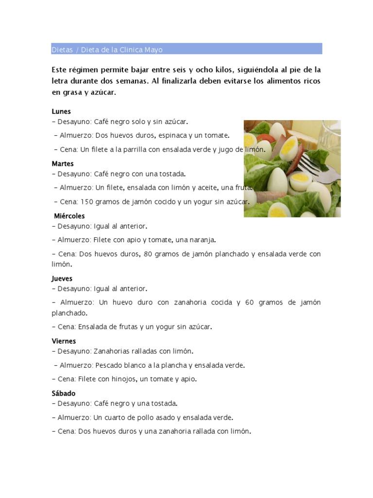dieta mayo)