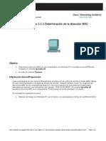 Che1 IG Lab 3.3.3.2 Find Mac Address