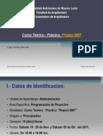 Presentación de Curso de Proyect 2007_NOV. 19 DEL 2011