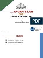 Week 4 Sales of Goods