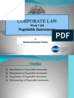 Week 7 & 8 Negotiable Instrument Act 1881