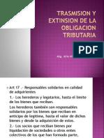 Trasmision y Extinsion de La Obligacion Tri but Aria