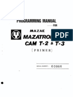 Programming Manual Mazatrol Cam T-2 & T-3 Primer