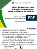TCU - Ciclo de Palestras - Requisitos Serviços Software