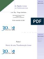Aula de Álgebra Linear - 24 de Novembro