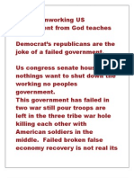Failed Nonworking Government From God Teaches