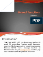 Stored Function