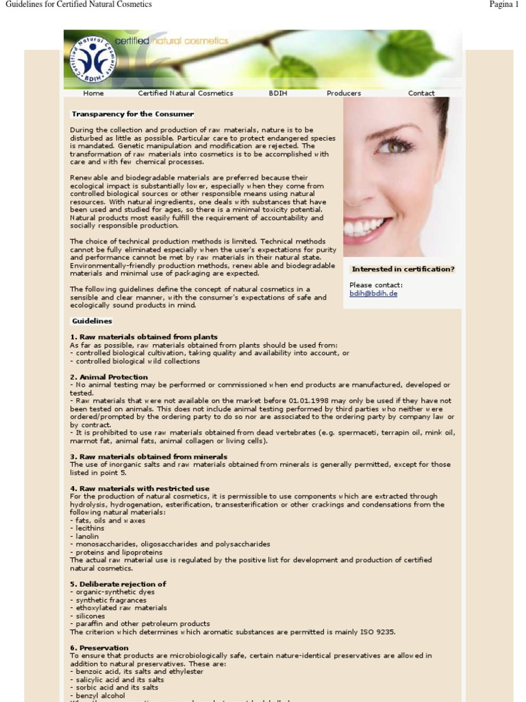 Lavera BDIH Guidelines for Certified Natural Cosmetics | Cosmetics
