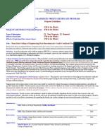 COE Post Baccalaureate Credit Certificate Program Guidelines