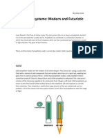 Propulsion Systems Modern and Futuristic