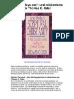 John Wesleys escritural cristianismo por Thomas C Oden - Averigüe por qué me encanta!