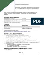 IBM WebSphere Portal Integrator for SAP - Sample Scenario