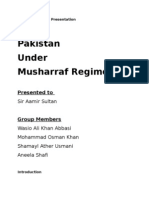 Pakistan Under Musharraf Regime