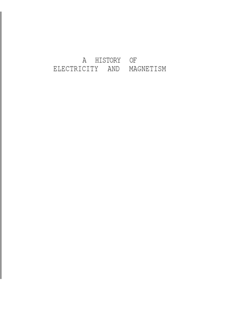ebook pdf a history of electricity magnetism herbert