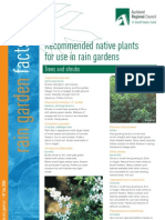 New Zealand; Recommended Native Plants for Use in Rain Gardens - Auckland Regional Council
