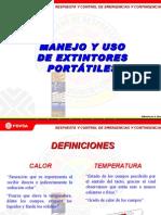 Charla de Uso y Manejo de Exintores Pdvsa