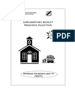 Preschool Booklet