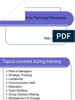 Managerial Skill for Technical Personnel