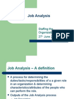 Job Analysis Staffing