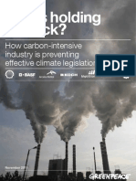 Who's holding us back? How carbon-intensive industry is preventing effective climate change legislation