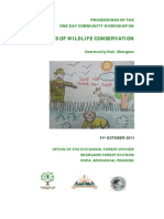 Proceedings of the Workshop on Benefits of Wildlife Conservation