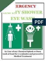 Emergency Safety Shower