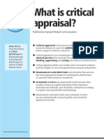 WhatisCriticalAppraisal
