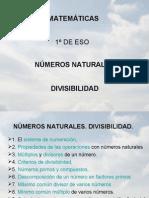 1. NÚMEROS NATURALES. DIVISIBILIDAD