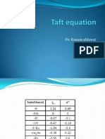 Taft equationPPT Kusum