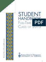 Rotman Student Handbook