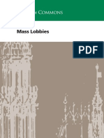Parliament guidance on mass lobbies