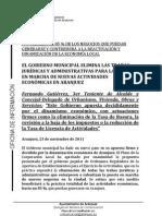 EL GOBIERNOMUNICIPALELIMINALAS TRABAS JURÍDICAS YADMINISTRATIVAS