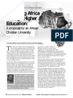 Discipling Africa Through Higher Education