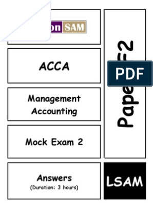 F2_Mock2_ans | Management Accounting | Profit (Accounting)