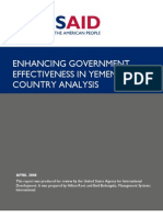 2008 Usaid Enhancing Governement Effectiveness in Yemen
