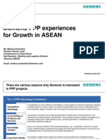 Siemens PPP experiences for Growth in ASEAN