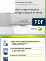 Low-Carbon Green Growth and Urban Planning Strategies in Korea