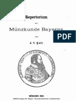 Repertorium zur Münzkunde Bayerns. [I] / von J. V. Kull