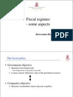 Fiscal Regimes