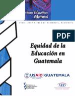 Equidad en la Educacion en Guatemala